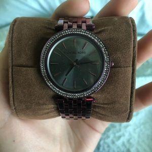 Plum colored MK watch